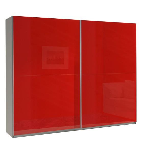 Červená šatní skříň do ložnice Toni 13