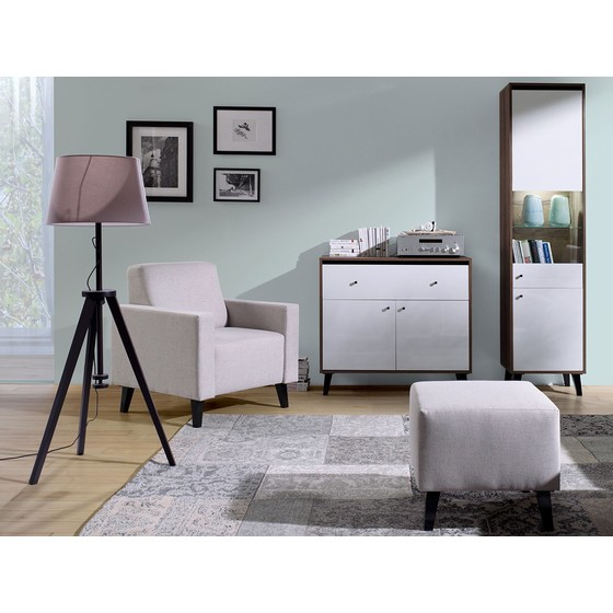 Nábytek do obývacího pokoje s křeslem Naviedo Gloss III