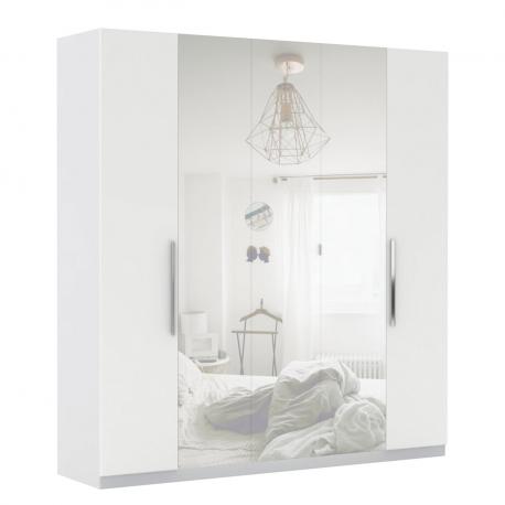 Šatní skříň se zrcadlem Merlot 5D