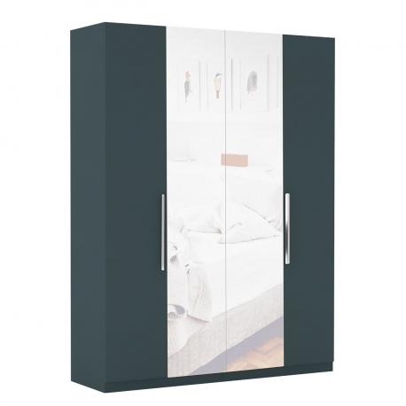 Šatní skříň se zrcadlem Merlot 4D