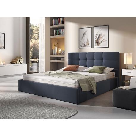 Čalouněná postel s roštem Minti