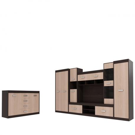 Obývací stěna Peniada s komodou