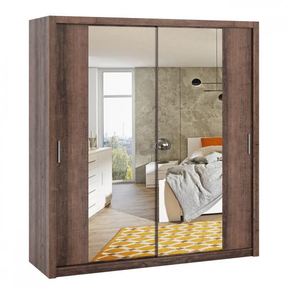 Šatní skříň se zrcadlem Kler SZ200 KE09