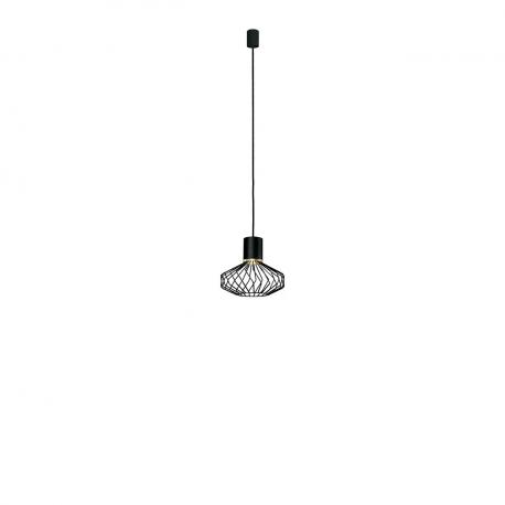 Moderní závěsná lampa Pico black-gold I 8862