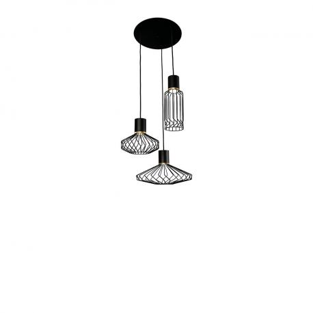 Industriální lampa Pico černo - zlatá III 8863