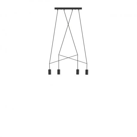 Moderní lampa Imbria černá IV 9192