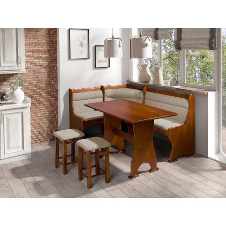 Kuchyňský kout + stůl se židlemi Porfiry