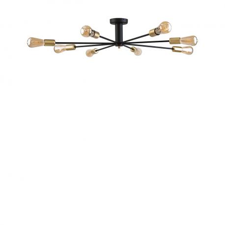 Moderní stropní svítidlo Mill black-gold VIII 9135