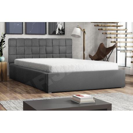 Čalouněná postel s rolovatelným roštem Kinec
