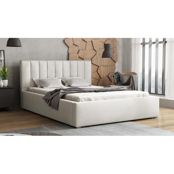 Čalouněná postel s rolovatelným roštem Sonden