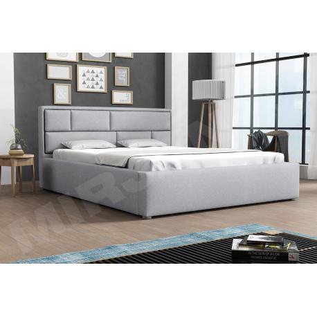 Čalouněná postel s úložným prostorem a roštem Nido