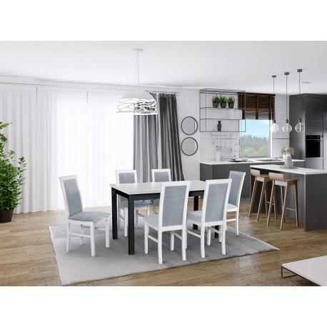 Rozkládací stůl se 6 židlemi - AL01