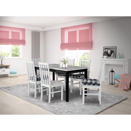 Rozkládací stůl se 6 židlemi - AL06