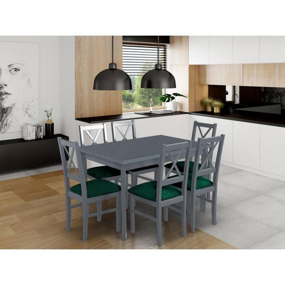 Rozkládací stůl se 6 židlemi - AL25