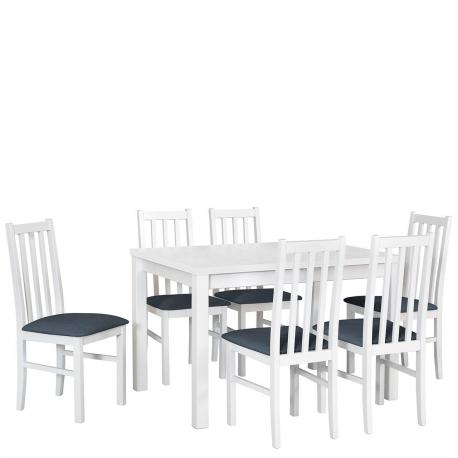 Rozkládací stůl se 6 židlemi - AL18