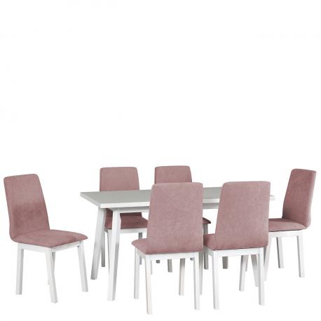 Rozkládací stůl se 6 židlemi - AL45