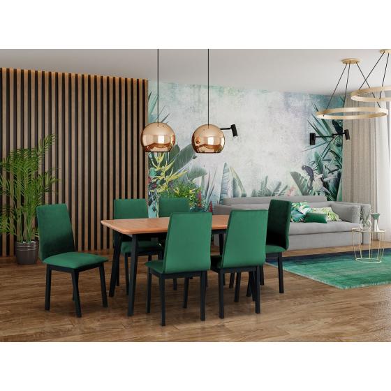 Rozkládací stůl se 6 židlemi - AL51