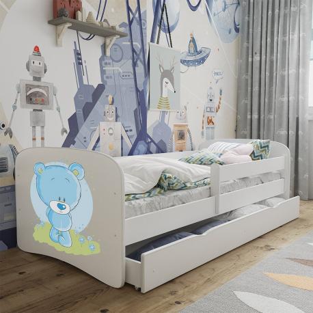 Dětská postel s úložným prostorem a matrací Elsa