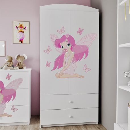 Dvoudveřová skříň se zásuvkami Elsa