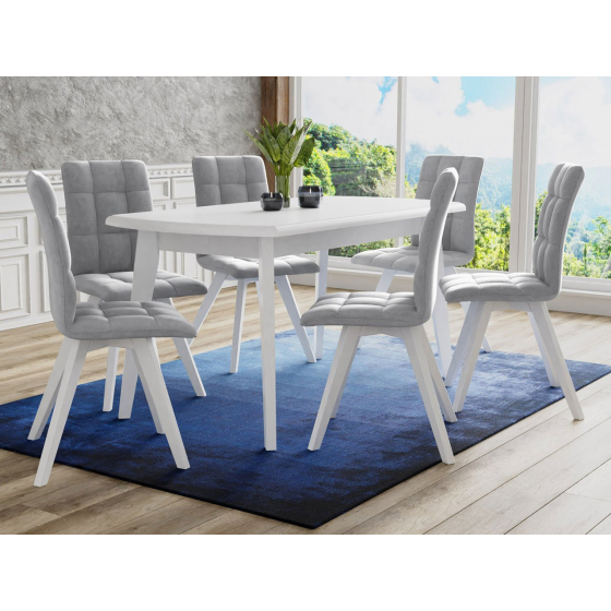 Rozkládací stůl se 6 židlemi - RK053