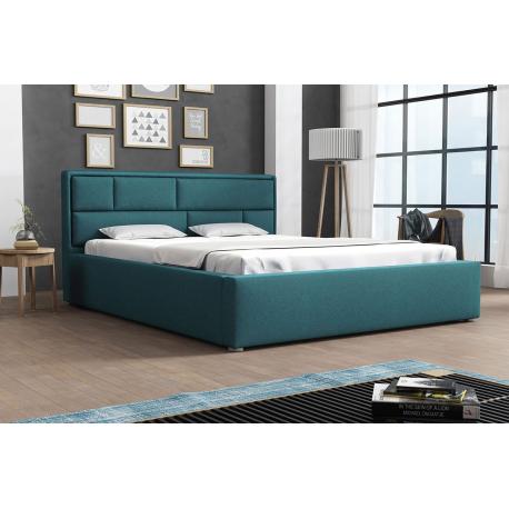 Čalouněná postel s rolovaným roštem Nido