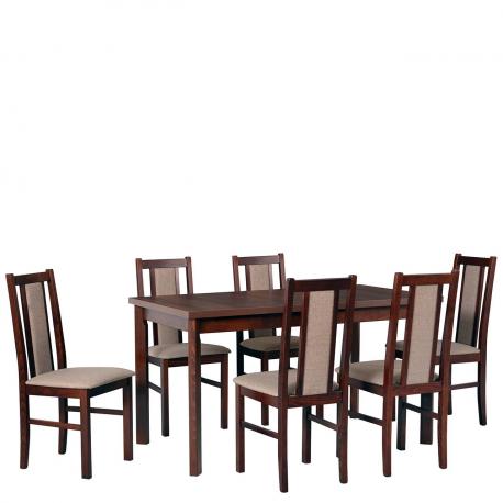 Rozkládací stůl se 6 židlemi AL33