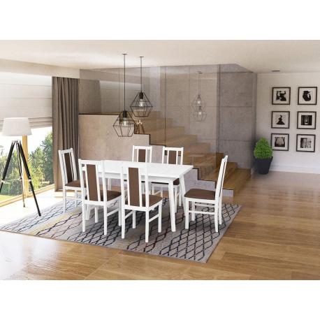 Rozkládací stůl se 6 židlemi - AL46