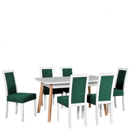 Rozkládací stůl se 6 židlemi - AL49
