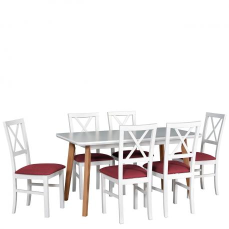 Rozkládací stůl se 6 židlemi - AL52