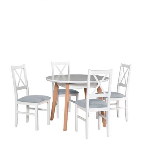 Kulatý stůl se 4 židlemi - AL42