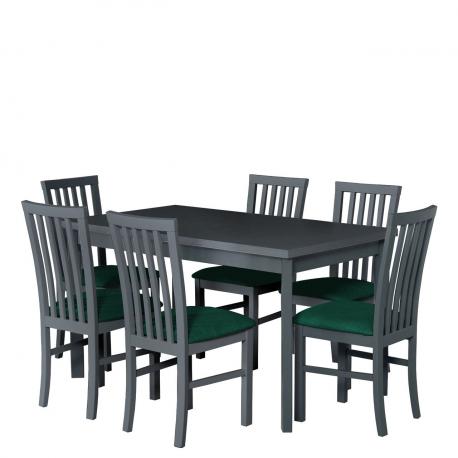 Rozkládací stůl se 6 židlemi - AL36