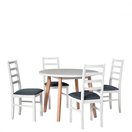 Kulatý stůl se 4 židlemi - AL41