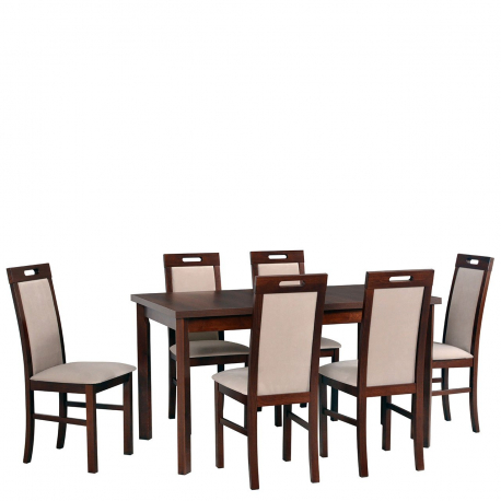 Rozkládací stůl se 6 židlemi - AL35