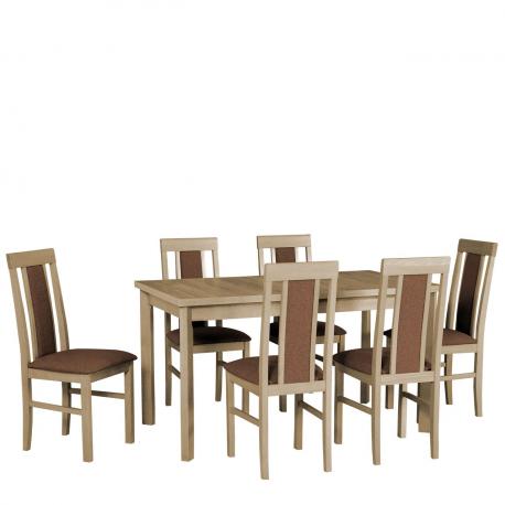 Rozkládací stůl se 6 židlemi - AL34