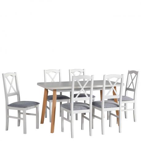 Rozkládací stůl se 6 židlemi - AL48