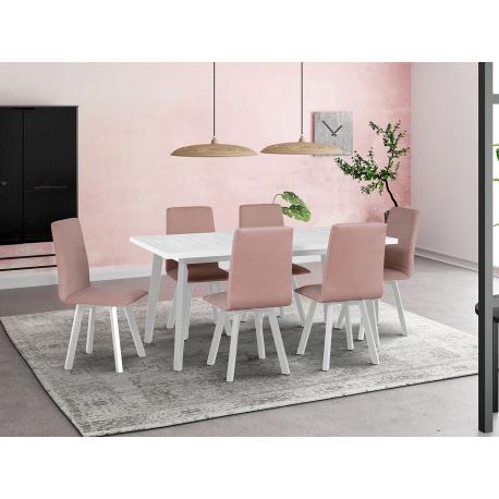 Rozkládací stůl se 6 židlemi - AL44