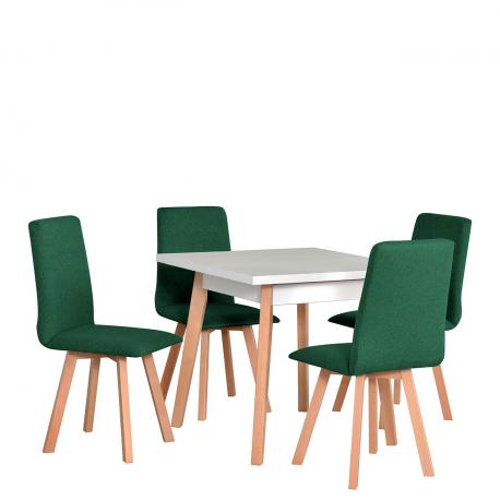 Čtvercový stůl se 4 židlemi - AL38