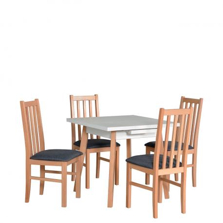 Rozkládací čtvercový stůl se 4 židlemi - AL39