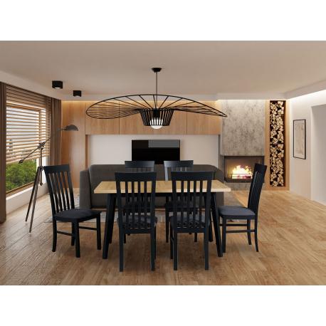 Rozkládací stůl se 6 židlemi - AL47