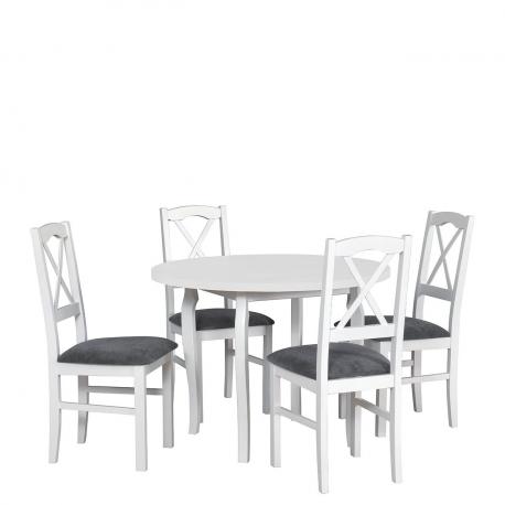 Kulatý stůl se 4 židlemi - AL55