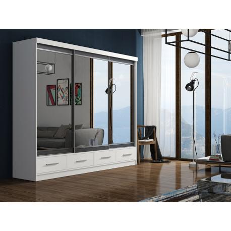 Posuvná skříň se zrcadlem Alvaro 250