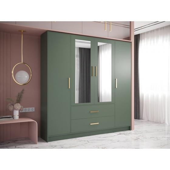 Šatní skříň se zrcadlem a zásuvkami Arianko 201