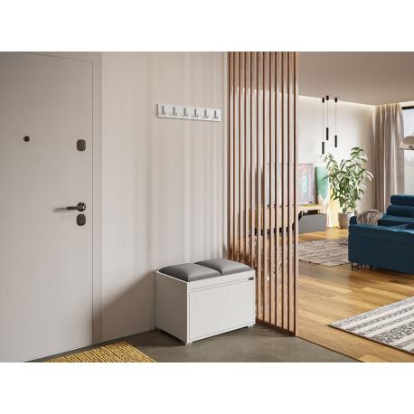 Nábytek do předsíně Konkor 60 + 2 kusy čalouněných nástěnných panelů Pag 30x30