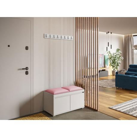 Nábytek do předsíně Konkor 80 + 2 kusy čalouněných nástěnných panelů Pag 40x30