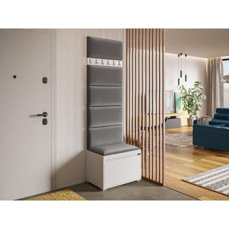 Nábytek do předsíně Konkor 60 + 6 kusů čalouněných nástěnných panelů Pag 60x30