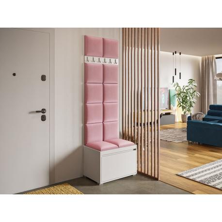 Nábytek do předsíně Konkor 60 + 12 kusů čalouněných nástěnných panelů Pag 30x30