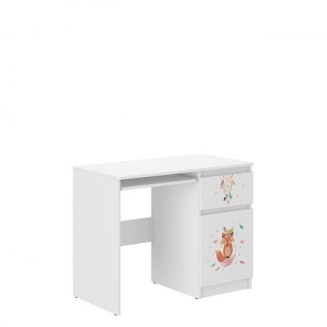 Bílý psací stůl N-33 Potapi