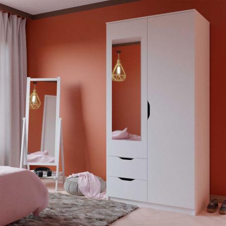 Dvoudveřová skříň se zrcadlem Fulmar 2D2S