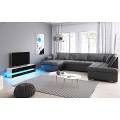 Sestava do obývacího pokoje – sedací souprava Tony Bis + RTV skříňka Onlow