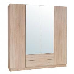 čtyřdveřová skříň se zrcadlem Elsa ES20